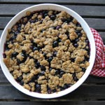 Summertime Blueberry Crisp