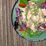 Asian Rotisserie Chicken Salad with Cilantro Dressing