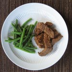 Steak with Ginger Peanut Sauce
