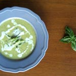 Asparagus Soup with Basil Cream