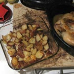 Hot Oven Magic – Roasted Chicken with Potatoes and Kale