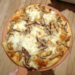 Pizza Part 1: Truffle Oil with Mushrooms and Fresh Mozzarella