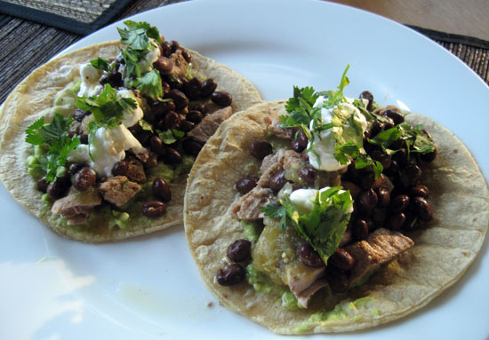 Pork Tacos with Guacamole and Salsa Verde - Whipped