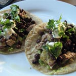 Pork Tacos with Guacamole and Salsa Verde