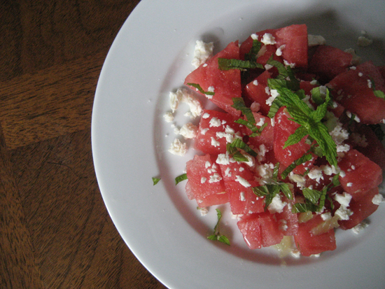 Watermelon Salad with Feta, Mint and Lime - Whipped