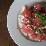 Watermelon Salad with Feta, Mint and Lime