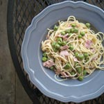 Pasta with Peas, Proscuitto and Lemon