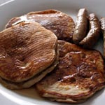 Fluffy Cinnamon Sour Cream Pancakes