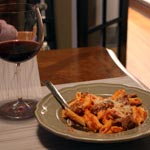 Penne with Roasted Tomato and Garlic Sauce