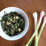 Kale with Green Garlic
