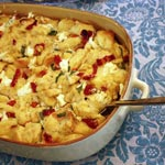 Sun Dried Tomato, Goat Cheese & Basil Strata