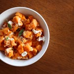 Sweet Potatoes with Goat Cheese & Sage