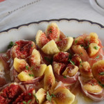 Figs with Prosciutto, Mozzarella and Basil