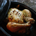 Easy Roasted Chicken with Lemon, Thyme and Garlic