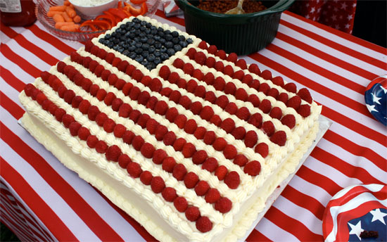 The Flag Cake of All Flag Cakes - Whipped