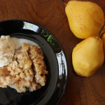 Pear Crisp with Maple Pecan Crumble