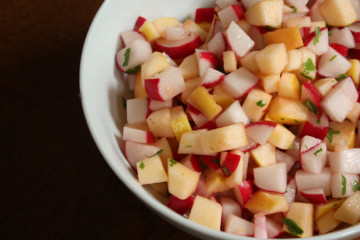 Radish-apple-salad