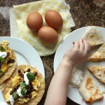 E is for Egg Tacos & Quesadillas