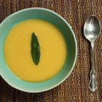 Acorn Squash Bisque with Fried Sage