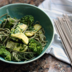 Soba Noodles with Tofu, Broccoli and Cilantro