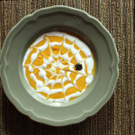 Calabaza Soup with Spider Web Cream