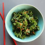 Spicy Peanut Kale Salad with Mint
