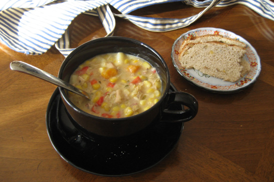 My First Date With Chicken Corn Chowder Whipped